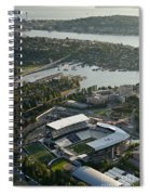 Seattle Skyline With Aerial View Of The Newly Renovated Husky St Spiral Notebook