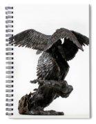 Seraph Angel A Religious Bronze Sculpture By Adam Long Spiral Notebook