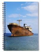 Shipwreck On Lanzarote Spiral Notebook