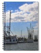 Shrimp Boats On Shem Creek Spiral Notebook
