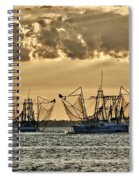 2 Shrimper Going To Sea Spiral Notebook