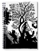 Silhouette Daily Life Spiral Notebook