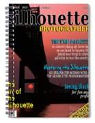 Silhouette Photographer Faux Magazine Cover Spiral Notebook