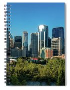 Skylines In A City, Bow River, Calgary Spiral Notebook