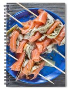 Smoked Salmon And Grilled Artichoke Spiral Notebook