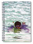 Snorkeling In The Lagoon Inside The Coral Reef Spiral Notebook