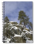 Snow Covered Cliffs And Trees II Spiral Notebook