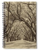 Southern Journey Sepia Spiral Notebook