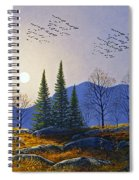 Southern Migration By Moonlight Spiral Notebook