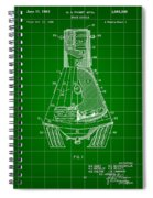 Space Capsule Patent 1959 - Green Spiral Notebook