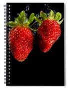 Splash Strawberry Spiral Notebook