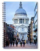 St. Paul's Cathedral London At Dusk Spiral Notebook