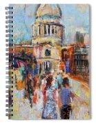 St Paul's From The Millennium Bridge Spiral Notebook
