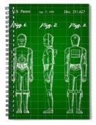 Star Wars C-3po Patent 1979 - Green Spiral Notebook