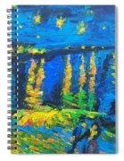 Starry Night Bridge Spiral Notebook
