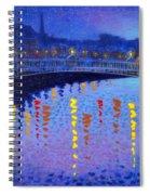 Starry Night In Dublin Spiral Notebook