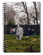 Statues Of Soldiers At A War Memorial Spiral Notebook