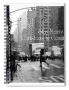 Stay Merry - Christmas Is Coming - Holiday And Christmas Card Spiral Notebook