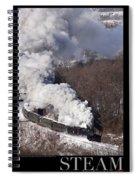 Steam At Scranton Spiral Notebook