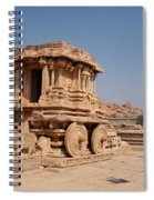 Stone Chariot At Vittala Temple  Spiral Notebook
