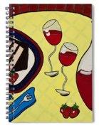Strawberry Wine Spiral Notebook