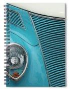 Street Car  Blue Grill With Headlight Spiral Notebook