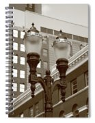 Streetlights - Lansing Michigan Spiral Notebook