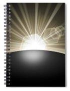 Sunrise Sunset Planet Spiral Notebook