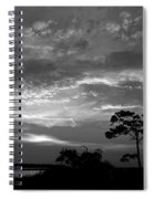 Sunset Over Colington Island On The Outer Banks Of North Carolina Spiral Notebook