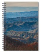 Sunset View Over Blue Ridge Mountains Spiral Notebook