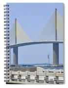 Sunshine Skyway Bridge I Tampa Bay Florida Usa Spiral Notebook