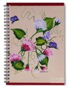 Sweet Peas And Butterflies Spiral Notebook