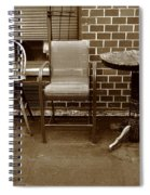 Table And Chairs Spiral Notebook