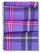 Tartan Pattern Spiral Notebook