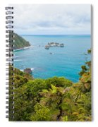 Tasman Sea At West Coast Of South Island Of New Zealand Spiral Notebook