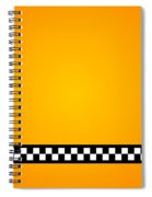 Taxi Background Spiral Notebook