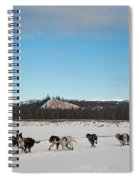 Team Of Sleigh Dogs Pulling Spiral Notebook