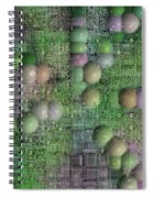 Technology Abstract Background Spiral Notebook
