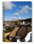 Thatched Cottages Near Dunmore Strand Spiral Notebook