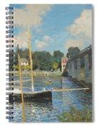 The Bridge At Argenteuil Spiral Notebook