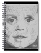 The Face In Black And White Spiral Notebook