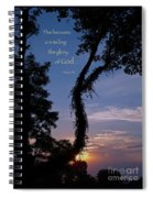 The Heavens Are Telling Spiral Notebook