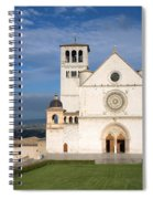 The Papal Basilica Of St. Francis Of Assisi  Spiral Notebook