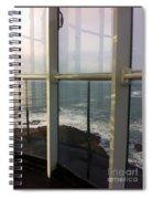 Through Lighthouse Window  Spiral Notebook