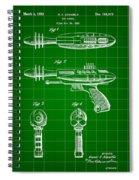 Toy Ray Gun Patent 1952 - Green Spiral Notebook