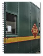 Tpw Rr Caboose Side View Spiral Notebook