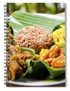 Traditional Vegetarian Curry With Rice In Bali Indonesia Spiral Notebook