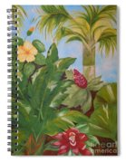 Tropical Garden Spiral Notebook