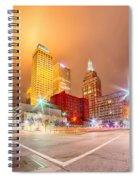 Tulsa City Skyline Around Downtown Streets Spiral Notebook