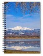 Twin Peaks Longs And Meeker Lake Reflection Spiral Notebook